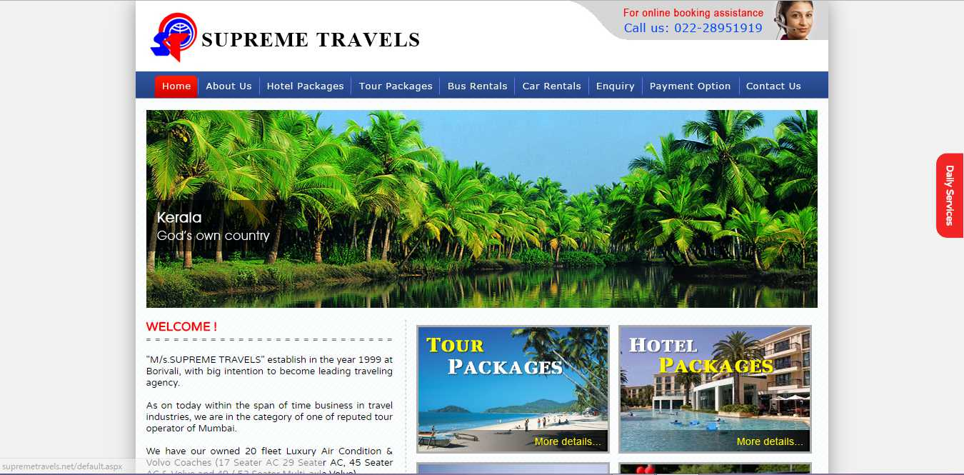 Supreme Travels | Travel Agency.